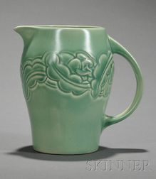 Susie Cooper Matte Green Glazed Art Pottery Pitcher